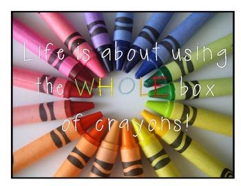 Crayon Teacher Printable