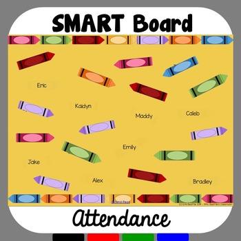 SMART Board Attendance: Crayons