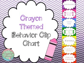 Crayon Themed Behavior Clip Chart (Crayons Match Color On Chart)