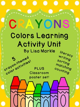 Crayons Theme Colors Learning Activity Unit for Preschool