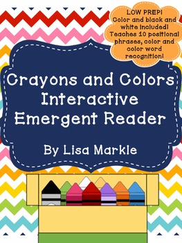 Crayons and Colors Interactive Emergent Reader for Prescho