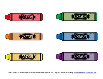 Crayons/Colors Coloring Activity