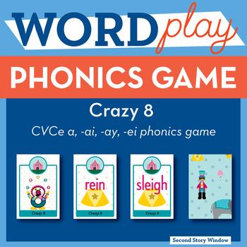 Crazy 8 Long A Phonics Game