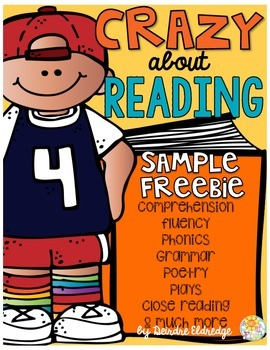 Crazy About Reading Sample FREEBIE- NO PREP ELA Essentials