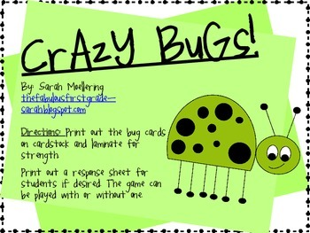Crazy Bugs Sight Word Game (Dolch 3rd Grade)