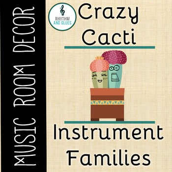 Crazy Cacti Music Room Theme - Instrument Family Headers,