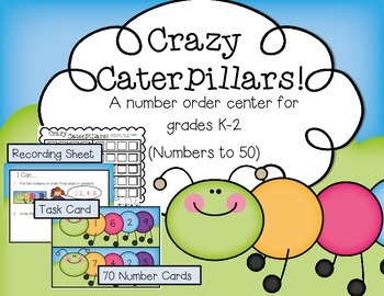 Crazy Caterpillars--Order the Numbers Math Center for K-2