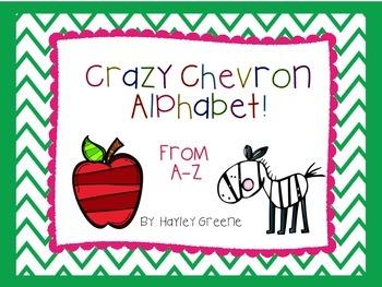Crazy Chevron Alphabet Letters