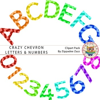 DOLLAR DEAL Crazy Chevron Letters and Numbers - Alphabet /