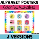 Crazy Colorful Circle Alphabet Posters