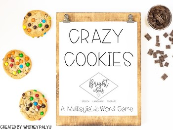 Crazy Cookies - A Multi-syllabic Word Game! (UPDATED)
