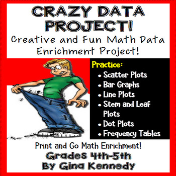 """""""Crazy"""" Data, Tables and Graphs Math Enrichment Project"""