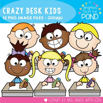 Crazy Desk Kids Clipart