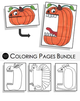 Crazy Fall Coloring Pages Bundle