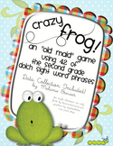 Crazy Frog! Sight Word Phrase Game for Second Grade. With