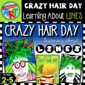 Crazy Hair Day Line and Pattern Art Project