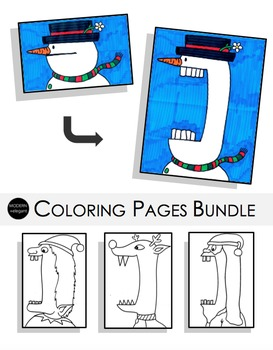 Crazy Holiday Coloring Pages Bundles