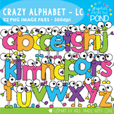 Crazy Lowercase Alphabet Cuties Clipart Set