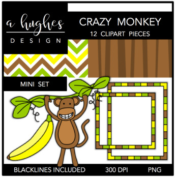 Crazy Monkey Mini Set {Graphics for Commercial Use}