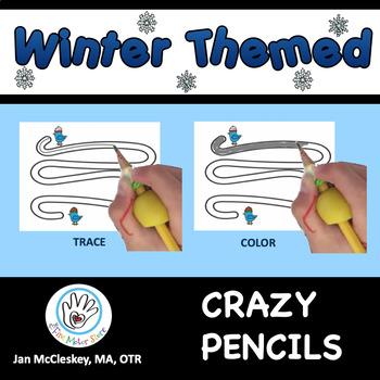 Fine Motor Crazy Pencils!  WINTER THEMED  Activities for C
