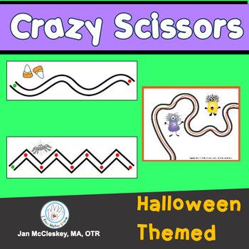 Fine Motor Crazy Scissors!  HALLOWEEN THEMED Activities fo