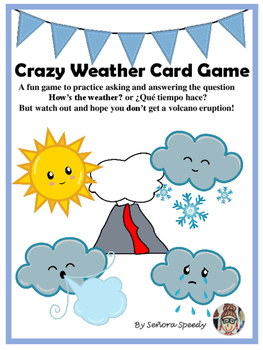 Crazy Weather Card Game - Practice for weather vocabulary