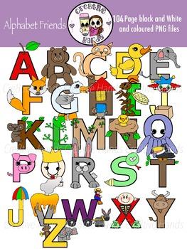 Cre8tive Hands - Alphabet friends combo clipart set