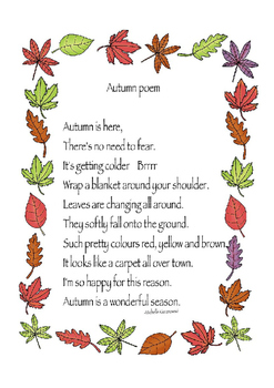 Cre8tive Hands - Autumn Poem