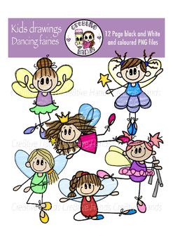Cre8tive Hands - Kids Art - Dancing fairies clipart set
