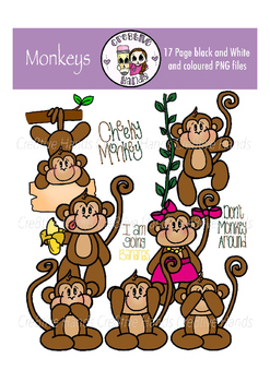 Cre8tive Hands - Monkey clipart set
