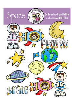 Cre8tive Hands - Space clipart set