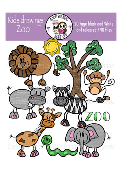 Cre8tive Hands - Zoo clipart set