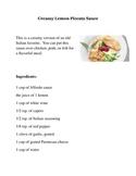 Creamy Lemon Piccata Sauce