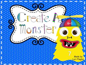 Create A Monster- Addition and Subtraction Facts