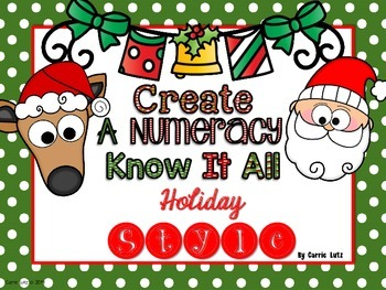 Create A Numeracy Know-It-All    {Holiday Style}