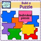 Create / Build a Puzzle clip art BUNDLE - 152 graphics - I