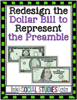 Create Currency to Represent the Preamble to the Constitution