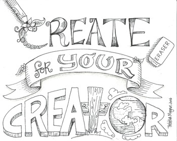 Create For Your Creator color sheet