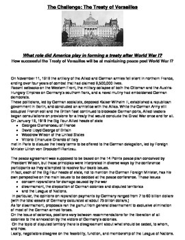 Create Own Treaty of Versailles and Analyze the Real Treat