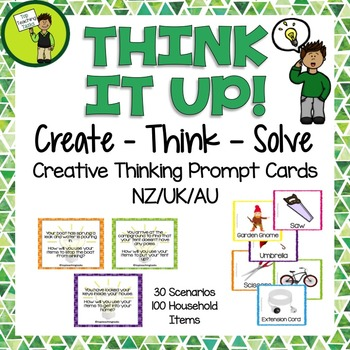 Create - Think - Solve Creative Thinking Prompt Cards (NZ)