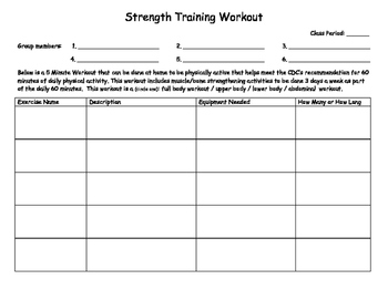 Create Workout Plan Project