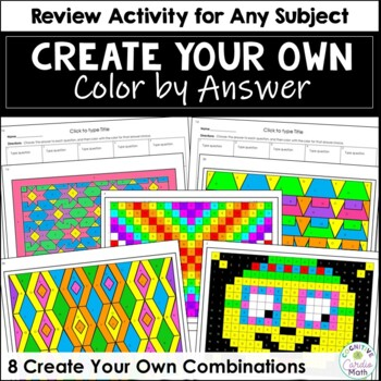Create Your Own Coloring Activity - For Any Subject!