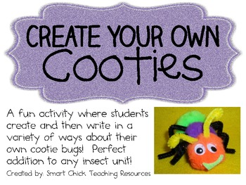 Create Your Own Cooties! ~ Writing Activities Pack ~ Perfe