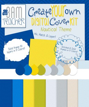 Create Your Own Digital Cover Kit: Nautical Theme
