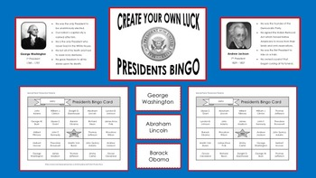 Presidents Bingo - Create Your Own Luck