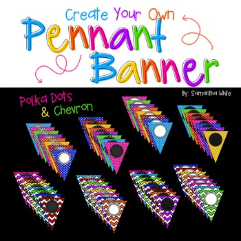 Create Your Own Pennant Banner {Editable}