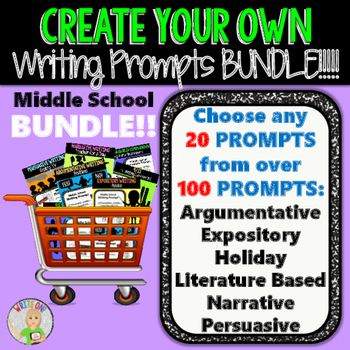 Create Your Own Writing Prompts BUNDLE!!!  20 Prompts!!!