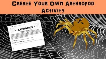 Create Your own Arthropod Worksheet