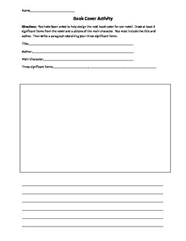 Create a Book Cover Worksheet