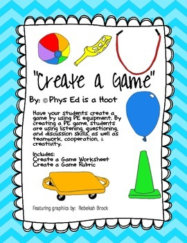 Create a Game Worksheet & Rubric